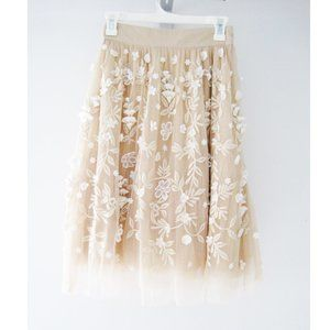 ASOS Blush Tulle Midi Applique Skirt 2